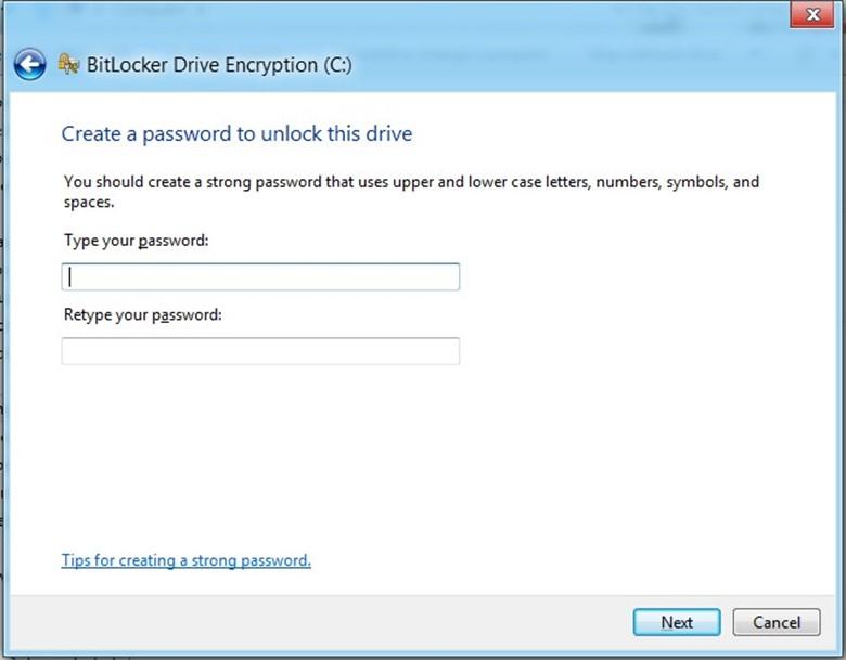 Создать пароль для доступа к диску