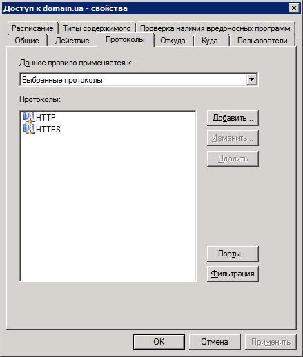 Доступ к domain.ua - Протоколы