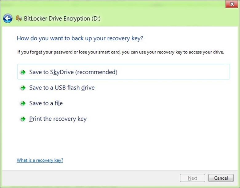 Сохранить пароль восстановления