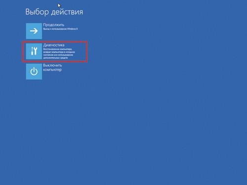 Диагностика в Windows 8