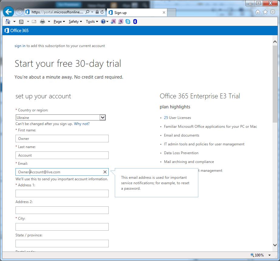 Registration - personal details