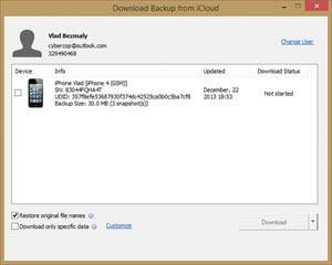 Загрузка резервной копии из? iCloud