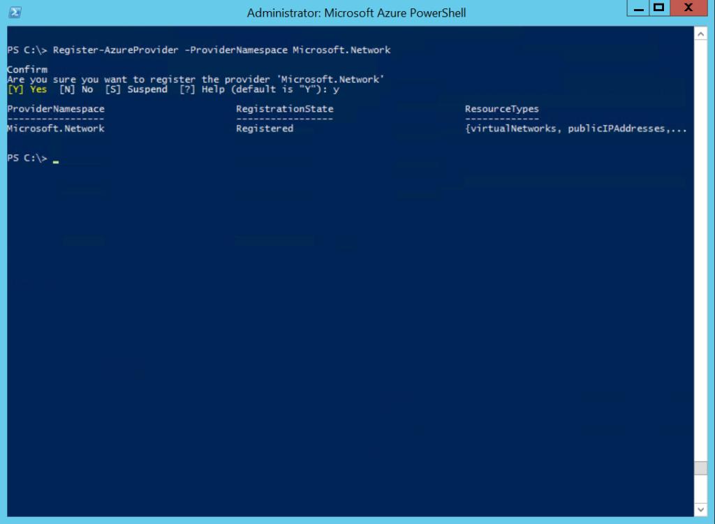 Register-AzureProvider